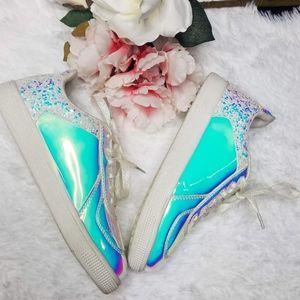 Iridescent Tennis Shoes